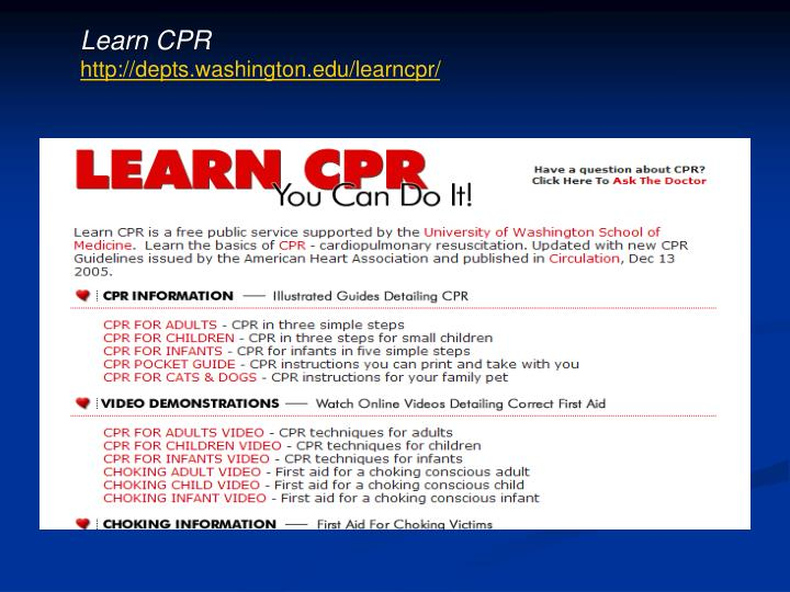 Learn CPR