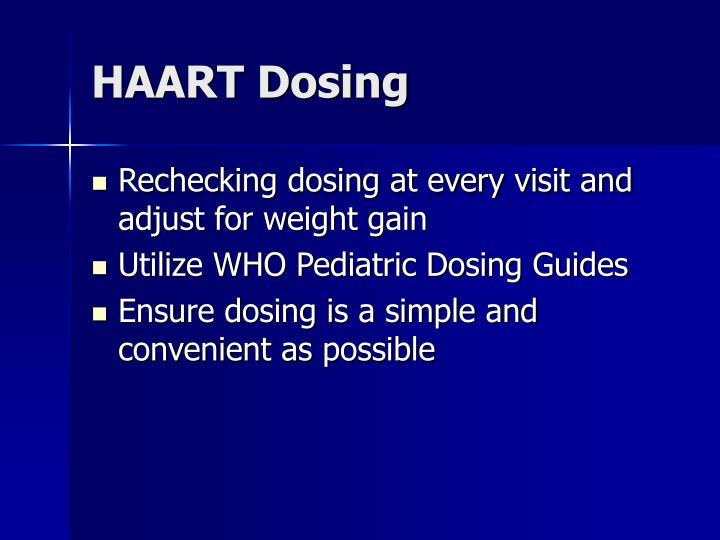HAART Dosing