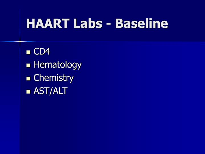 HAART Labs - Baseline