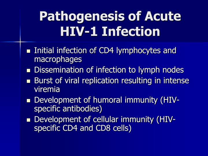 Pathogenesis of Acute HIV-1 Infection