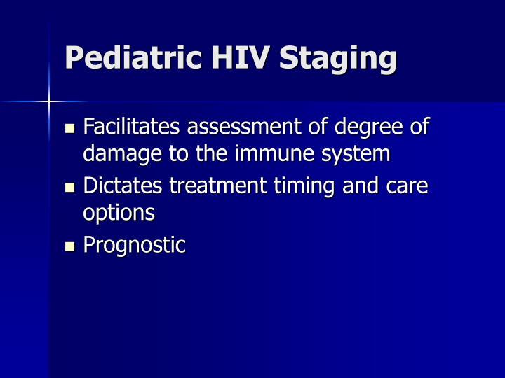 Pediatric HIV Staging