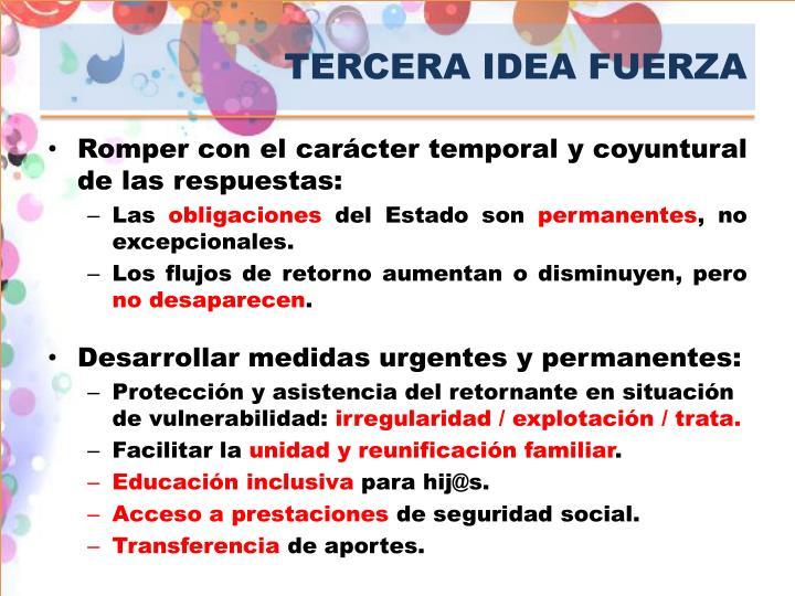 TERCERA IDEA FUERZA