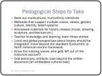 pedagogical steps to take