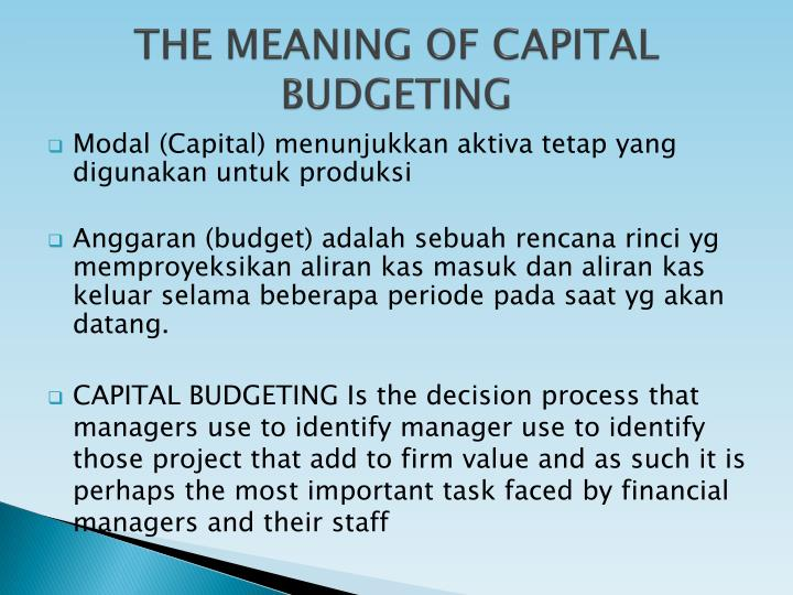 case study of capital budgeting project is terminated Team b capital budgeting case study introduction a capital budget is defined as, the process of decision making with respect to investments made in fixed assets—that is, allowing for one to determine what course of action to take especially as concern whether a proposed project should be.