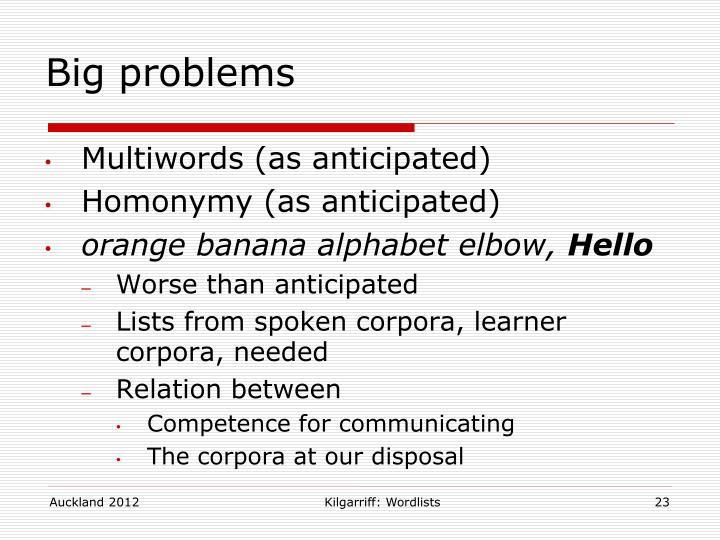 Kilgarriff: Wordlists