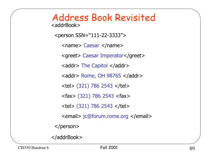 Address Book Revisited