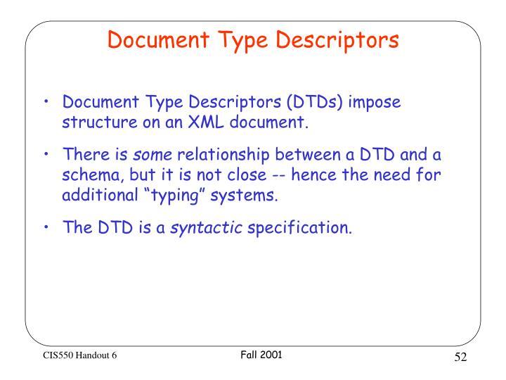 Document Type Descriptors
