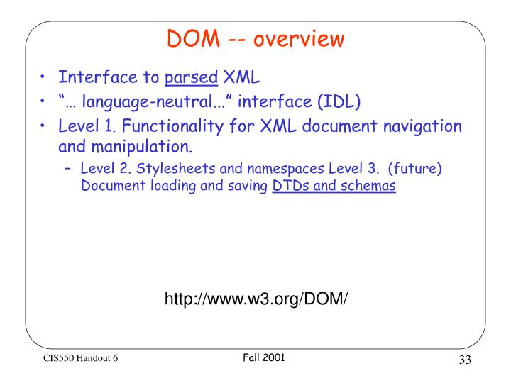 DOM -- overview