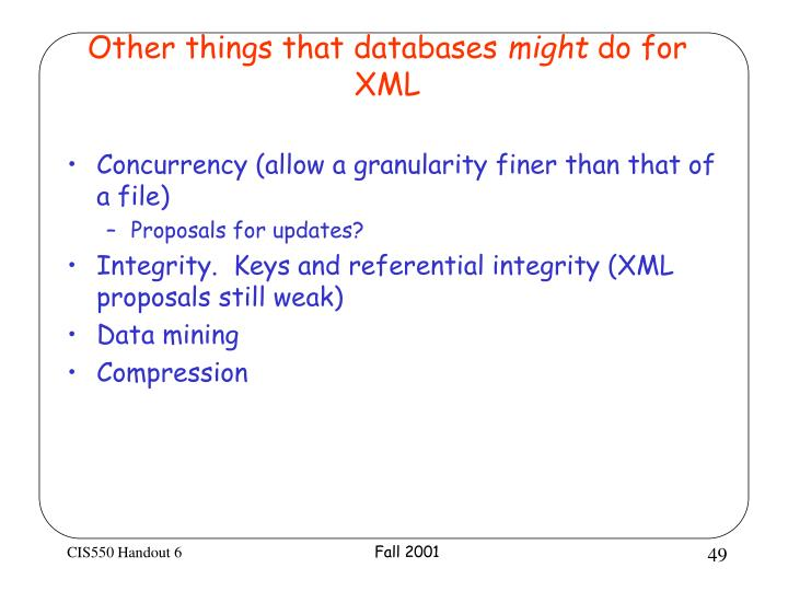 Other things that databases