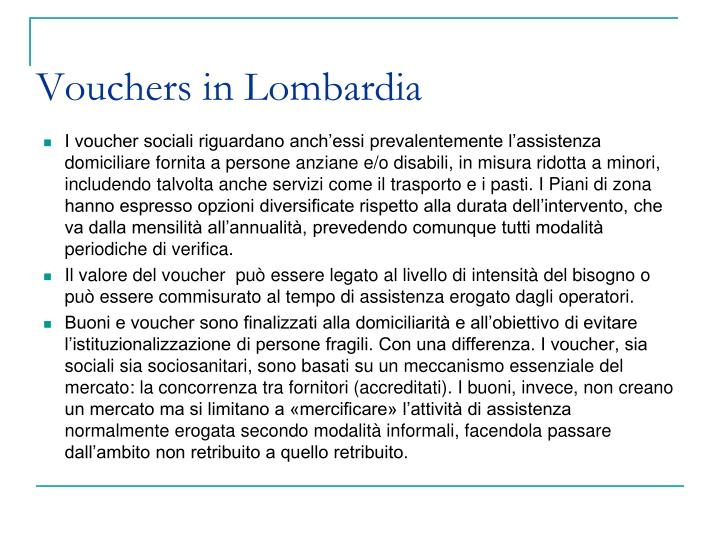 Vouchers in Lombardia