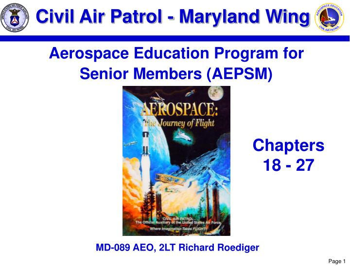 ppt civil air patrol maryland wing powerpoint. Black Bedroom Furniture Sets. Home Design Ideas