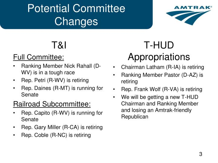 Potential committee changes