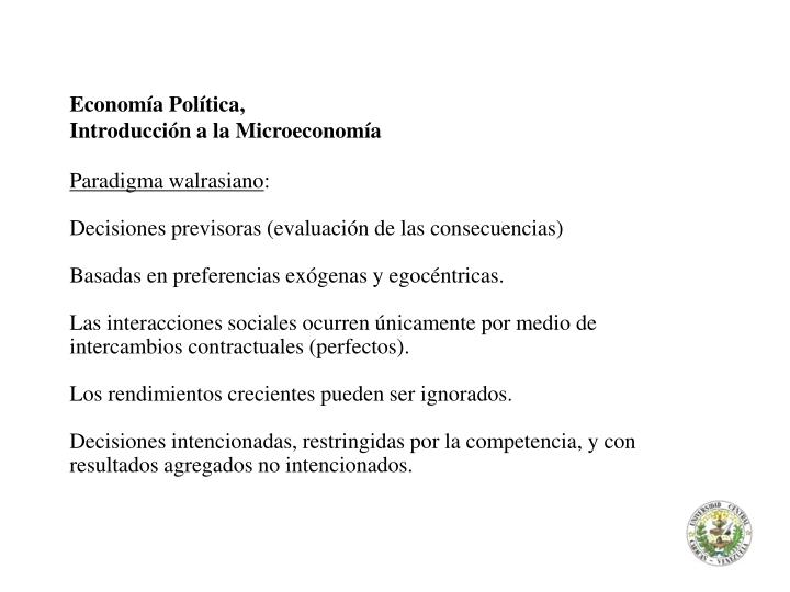 Economía Política,