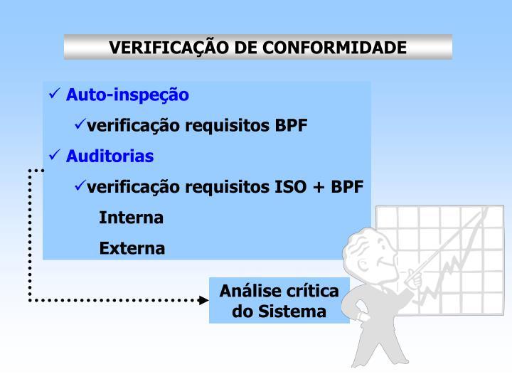 VERIFICAÇÃO DE CONFORMIDADE
