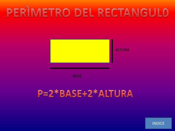 PERÌMETRO DEL RECTANGUL0