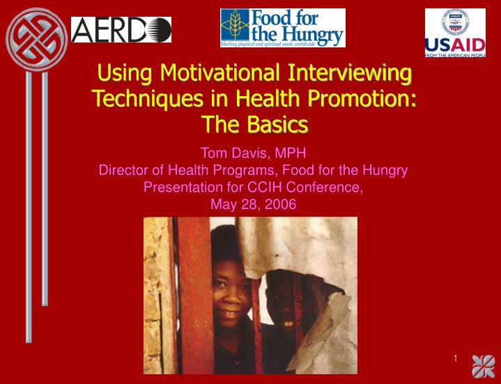 using motivational interviewing techniques in health promotion the basics n.