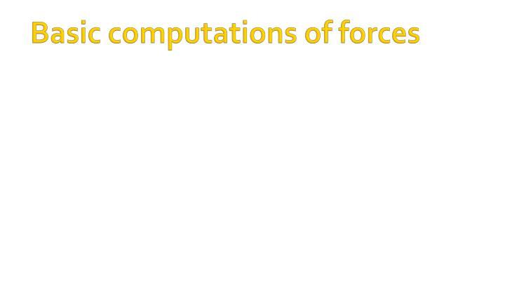 Basic computations of forces