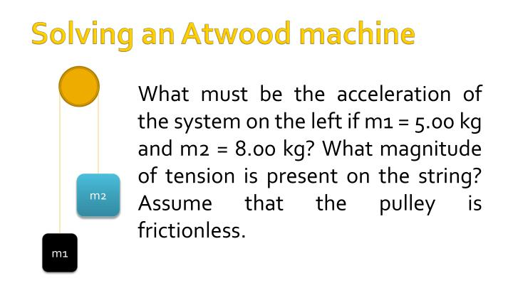 Solving an Atwood machine