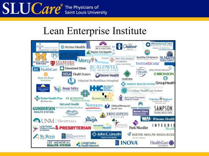 Lean Enterprise Institute
