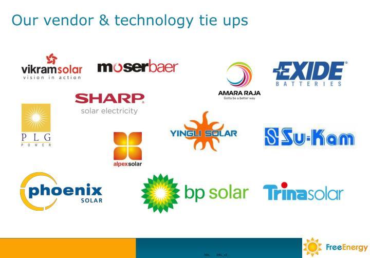 Our vendor & technology tie ups
