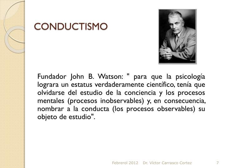 CONDUCTISMO