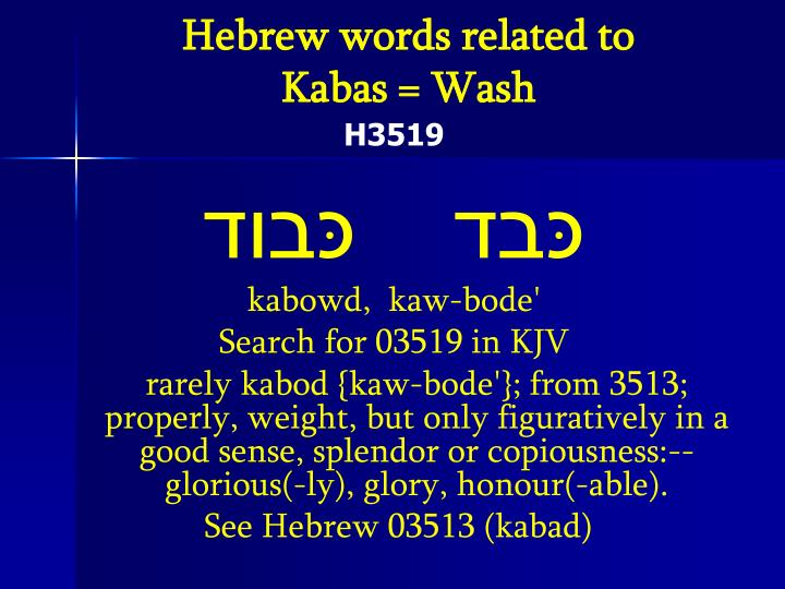 Hebrew words related to