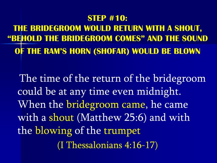 STEP #10: