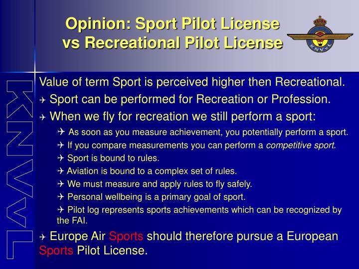 PPT - Example: The ICAO compliant KNVvL Glider Pilot License ...