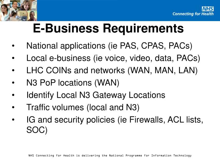 E-Business Requirements