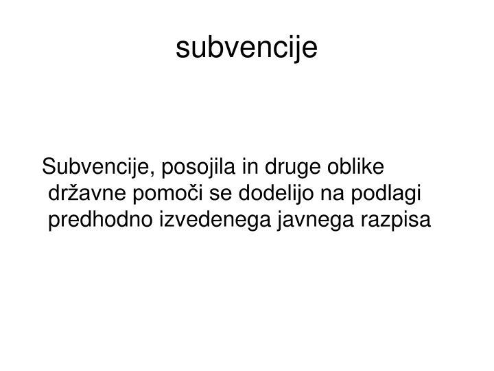 subvencije