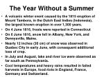 the year without a summer