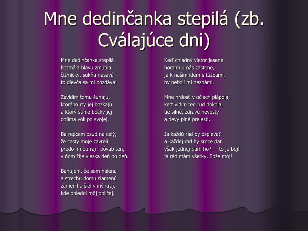 3eab046a6 PPT - Slovenská medzivojnová poézia PowerPoint Presentation - ID:5603204
