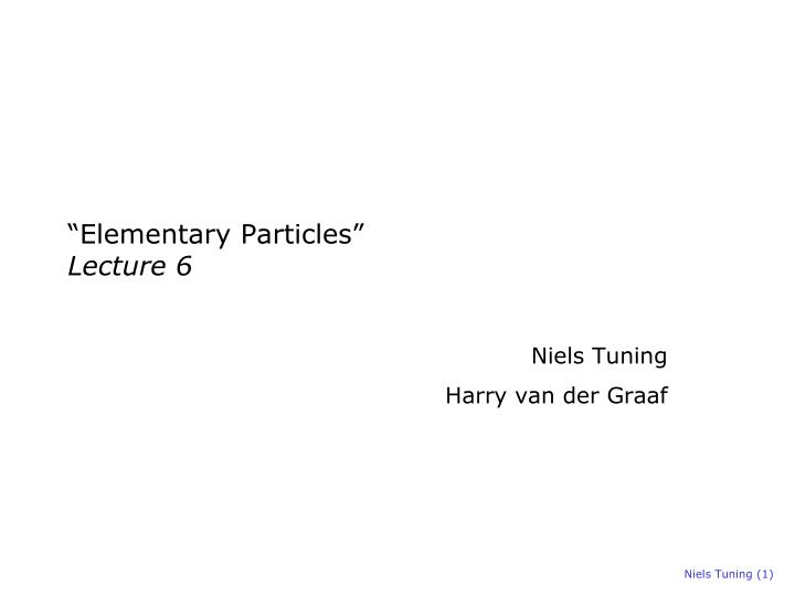 elementary particles lecture 6 n.