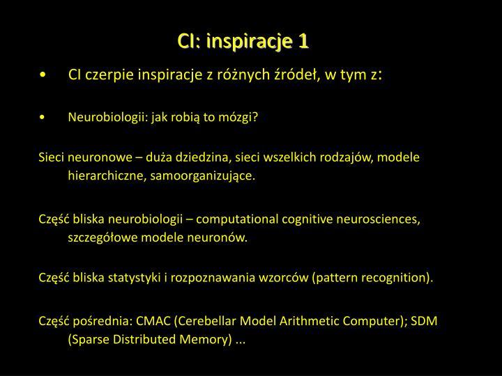 CI: inspiracje 1