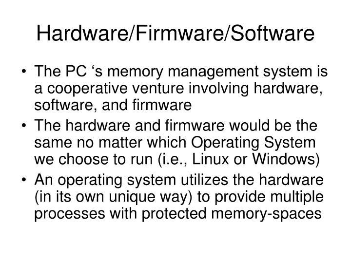Hardware firmware software