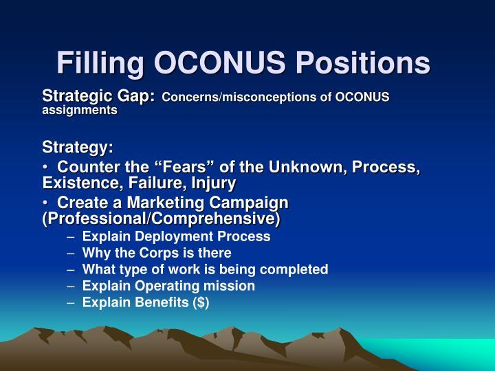 Filling OCONUS Positions
