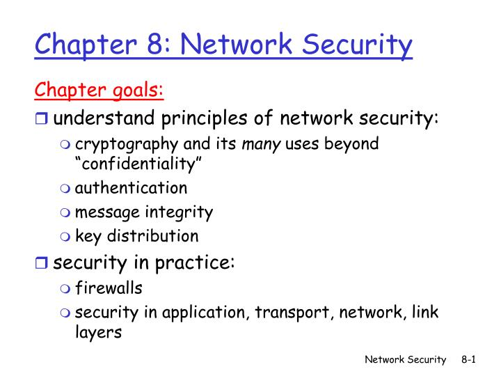 PPT - Chapter 8: Network Security PowerPoint Presentation