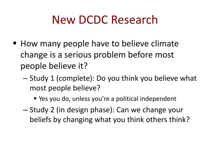 New DCDC Research