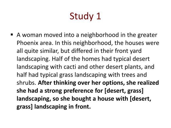 Study 1