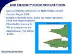 lidar topography in shishmaref and kivalina