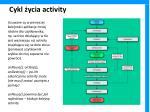 cykl ycia activity