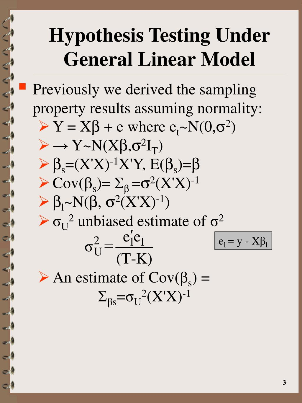 PPT - Inference in the General Normal Linear Model PowerPoint