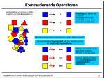 kommutierende operatoren1