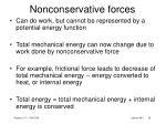 nonconservative forces