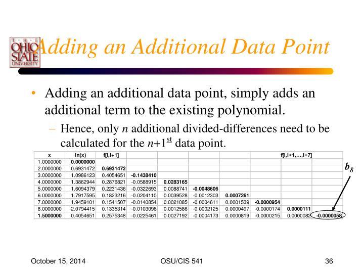 Adding an Additional Data Point
