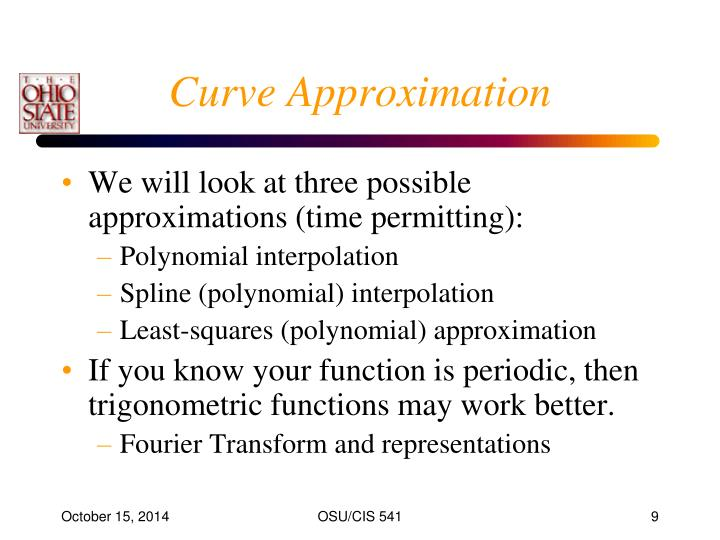 Curve Approximation