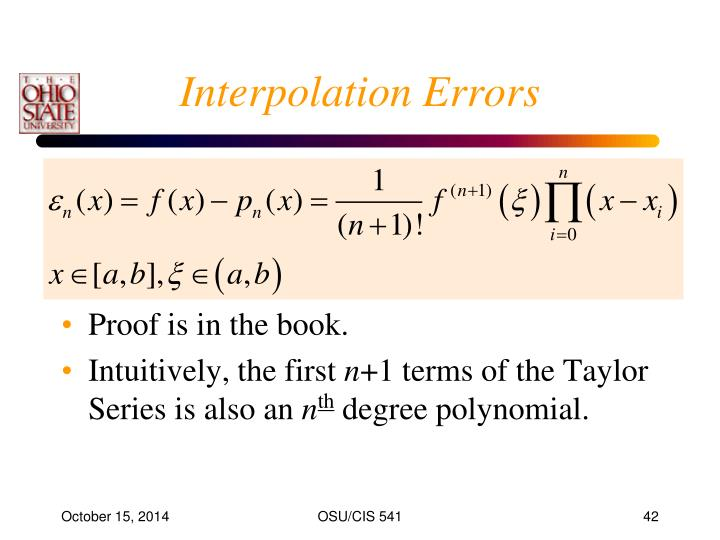 Interpolation Errors