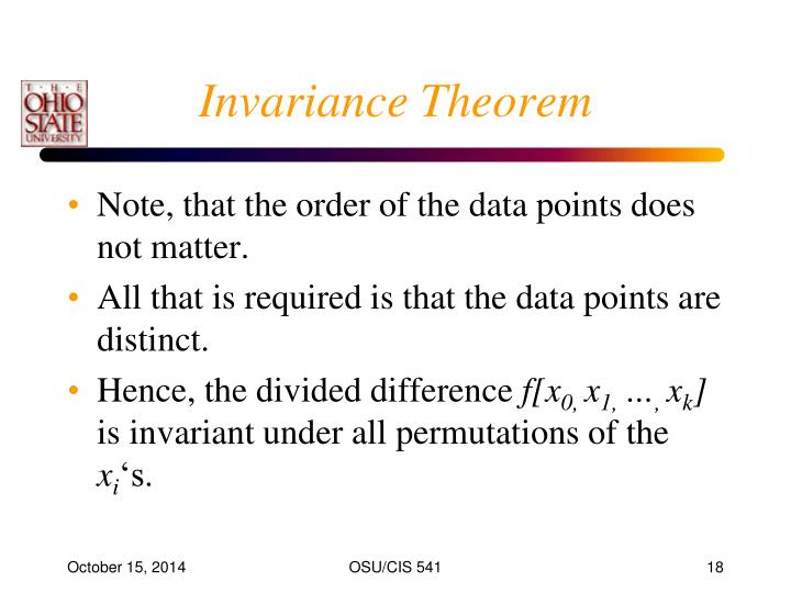 Invariance Theorem