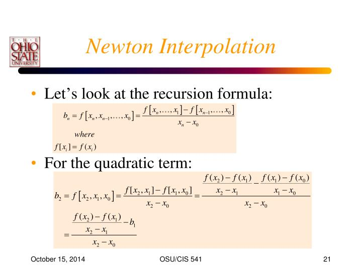 Newton Interpolation