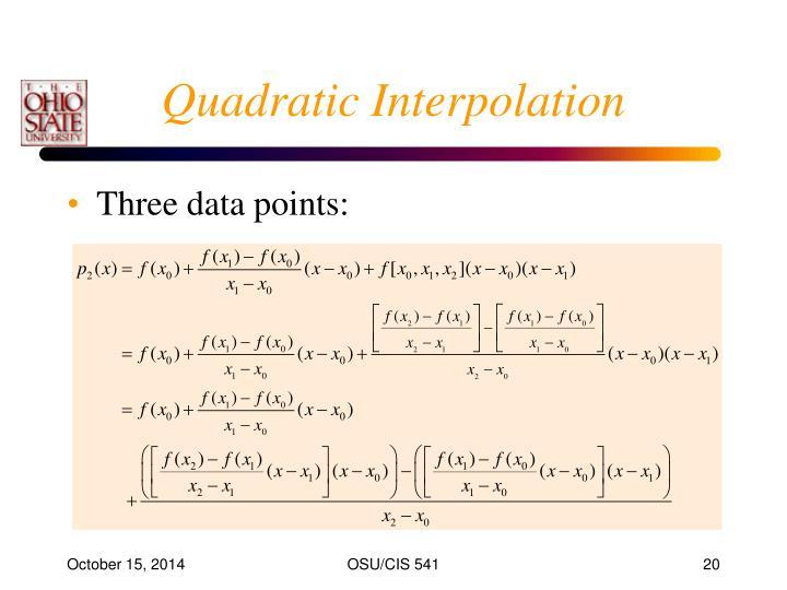Quadratic Interpolation